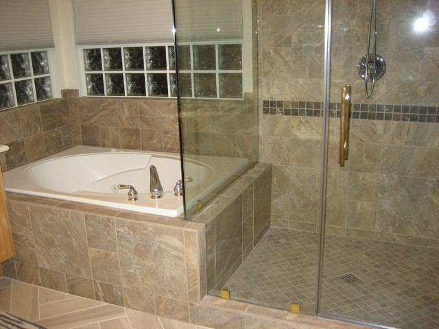 Tile modern bathroom las vegas by expert flooring for Flooring solutions