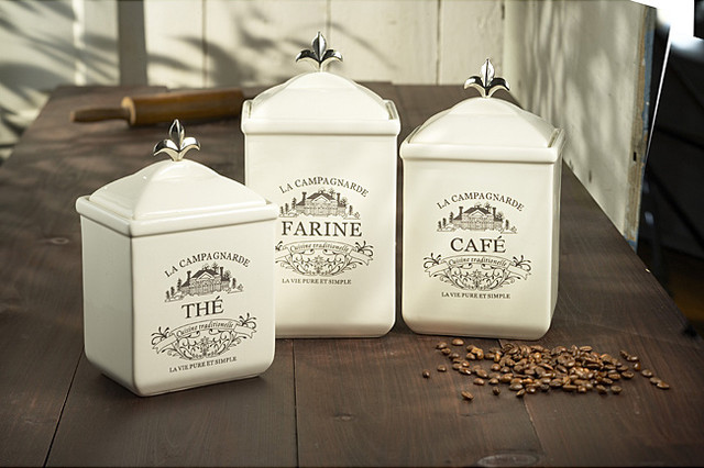 Maison 3-Piece Canister Set traditional food containers and storage