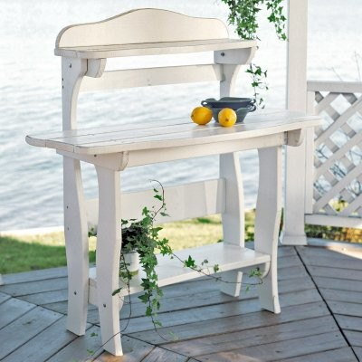 Uwharrie Chair Companion Wood Potting Bench Table modern-outdoor-products