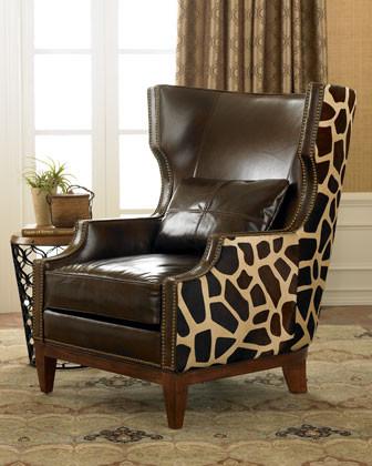 Massoud Giraffe Hairhide Chair traditional-living-room-chairs
