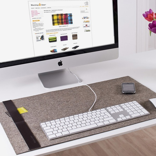 Burning Love Deskpad Desk Pad contemporary desk accessories