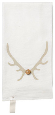 Antler Dishtowel modern holiday decorations