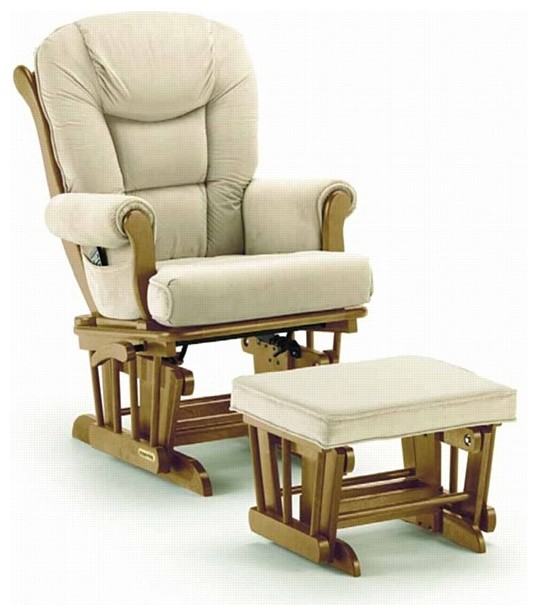 ... Glider Rocker & Ottoman Pecan traditional-rocking-chairs-and-gliders
