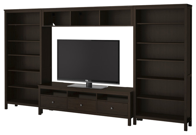 HEMNES TV storage combination - black-brown - IKEA traditional-entertainment-centers-and-tv-stands