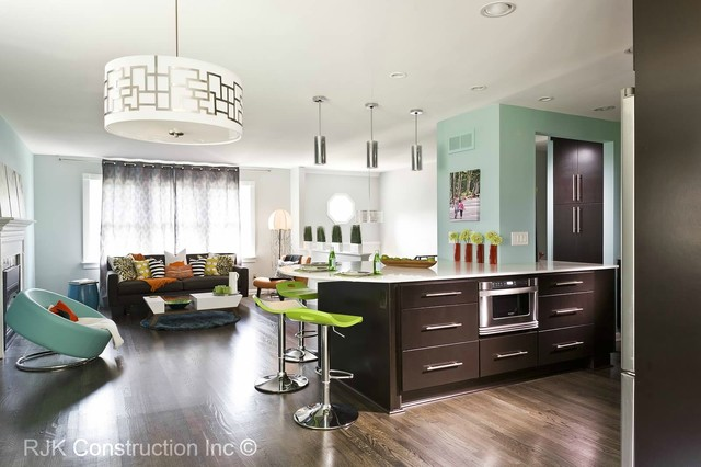 Ultra Modern Living Room Kitchen Dc Metro