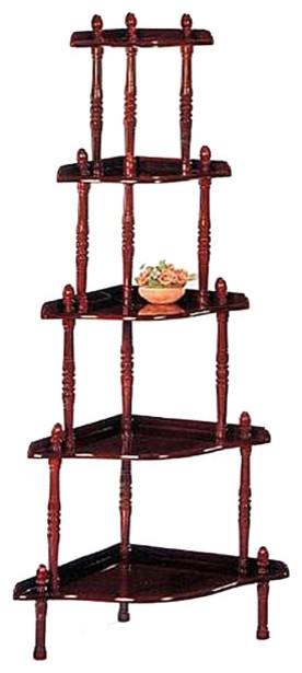 Corner 5-tier Book Shelf/ Display Cabinet - Contemporary - Storage Cabinets - by Overstock.com