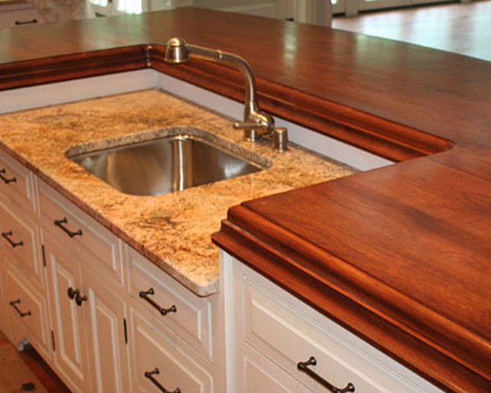 Cherry Wood Stain Matched Kitchen Counter with Sink.jpg -