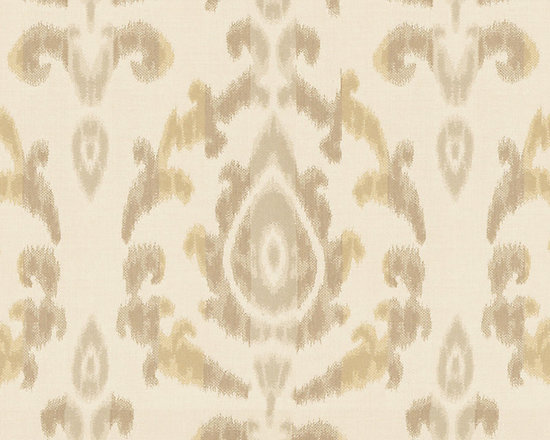 "Ballard Designs - Como Ikat Dijon Sunbrella Fabric by the Yard - Content: 100% Sunbrella® Acrylic. Repeat: Railroaded fabric, 13 1/4"" repeat. Care: Spot wash with mild soap. Width: 54"" wide. Refined Ikat-style floral of golden mustard & taupe on cream, washable, easy-care Sunbrella acrylic. Content: 100% Sunbrella Acrylic . . . . Because fabrics are available in whole-yard increments only, please round your yardage up to the next whole number if your project calls for fractions of a yard. To order fabric for Ballard Designs special order items, please refer to the order instructions provided for each product.Ballard offers free fabric swatches: $5.95 Shipping and Processing, ten swatch maximum. Sorry, cut fabric is non-returnable."