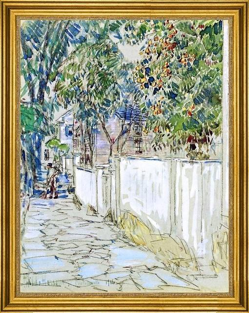 "Frederick Childe Hassam-18""x24"" Framed Canvas traditional-artwork"