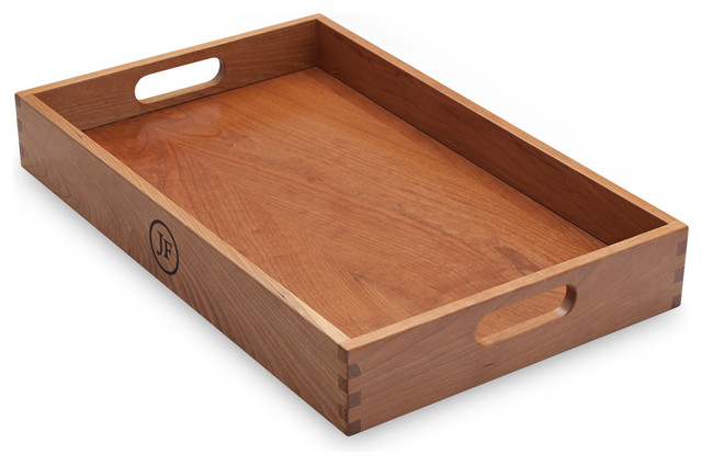 Hardwood Serving Tray, Cherry traditional-serving-trays