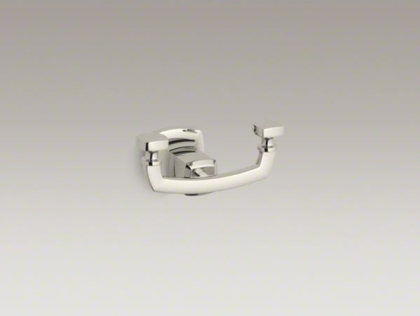 KOHLER Margaux(R) double robe hook contemporary-towel-bars-and-hooks