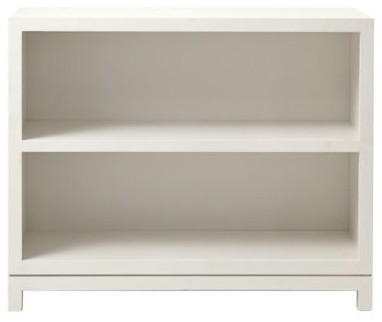 campaign 2 shelf bookcase white traditional. Black Bedroom Furniture Sets. Home Design Ideas