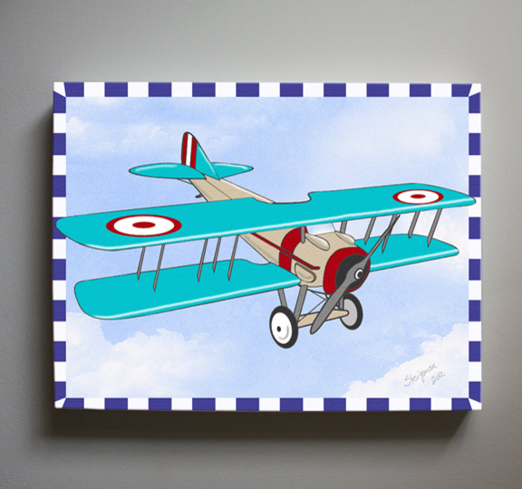 Kids wall art airplane nursery art vintage airplane Vintage airplane decor for nursery