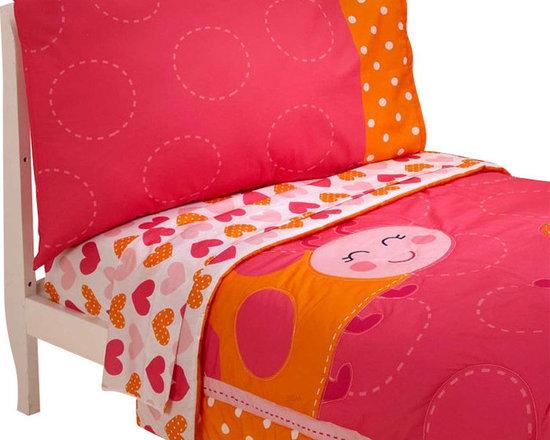 Crown Crafts Infant Products - Ladybug Toddler Bedding Set - FEATURES: