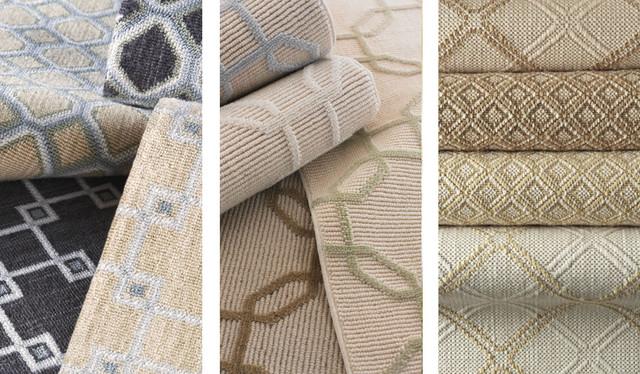 Wool Patterned Carpet eclectic-carpet-flooring