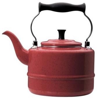 Paula Deen 2-Quart Steel Teakettle, Red traditional-kettles