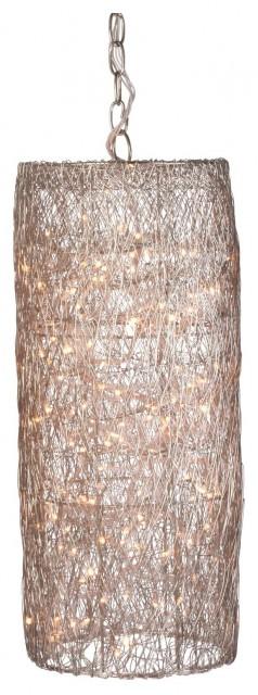 Silver Twinkle Hanging Lantern contemporary-pendant-lighting