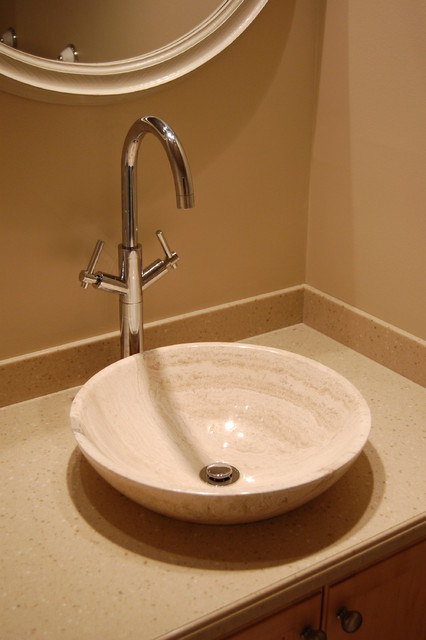 Travertine Bathroom Sinks : ... Bath S002BT-P Beige Travertine Sink Bowl transitional-bathroom-sinks