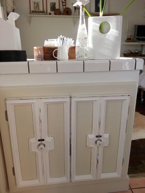 Kitchen Small Spaces water filter storage beach-style-kitchen