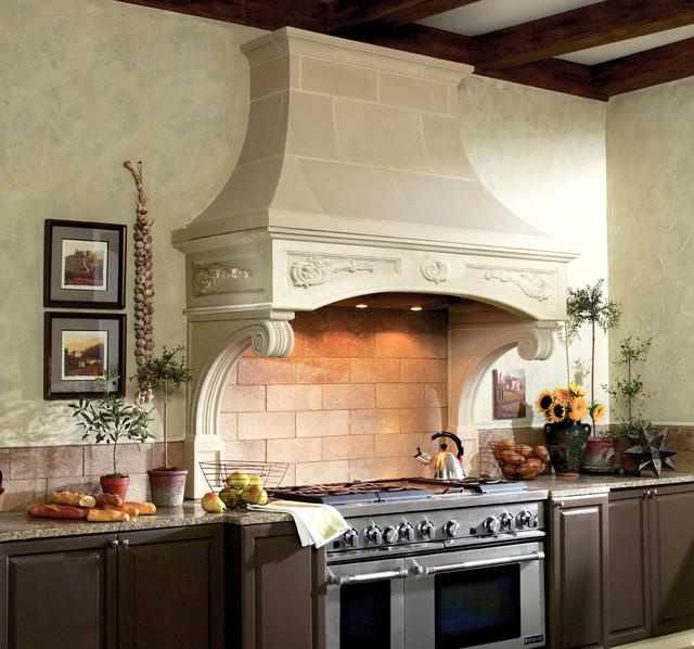Florentine Cast Stone Range Hood traditional-kitchen