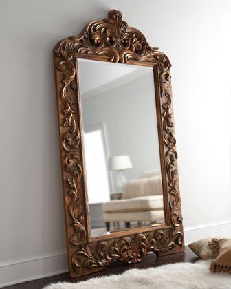 Golden Artemia Floor Mirror traditional-mirrors