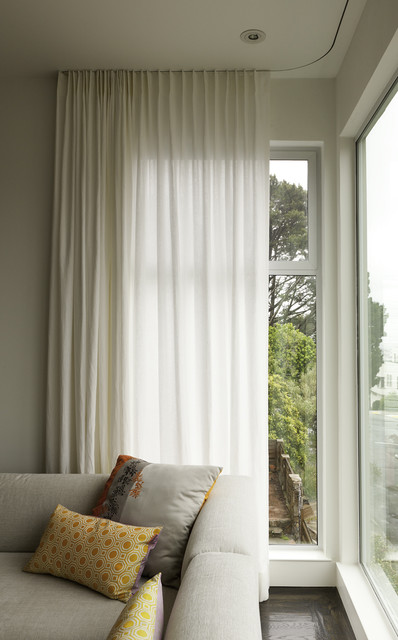 Modern Curtains On Recessed Track Modern Window