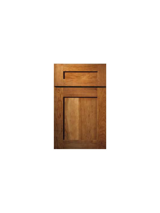 "Cherry Door Styles from Wellborn Cabinet, Inc. - Prairie Cherry is a shaker style with a simple shaker style and rail construction, that is popular with designers and homeowners.The drawer head has a sleek 5-Piece design  that we call our ""classic drawer front."""