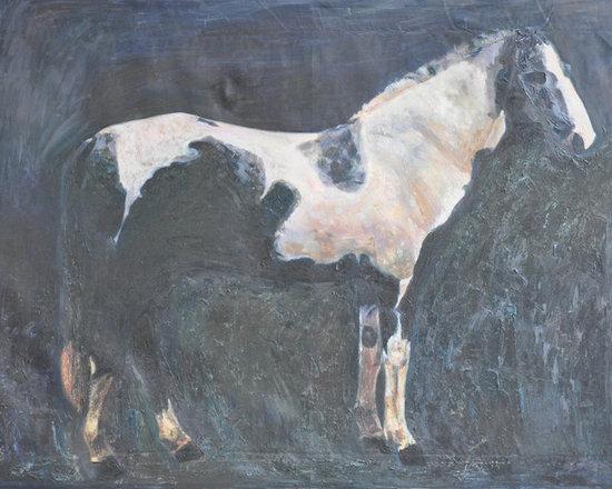 Art - Black and White Horse