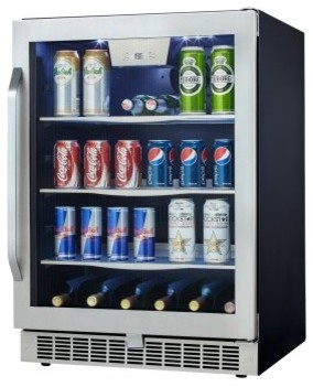 Danby DBC162BLSST Silhouette Select Built-In Beverage Center / Wine Cooler modern-beer-and-wine-refrigerators