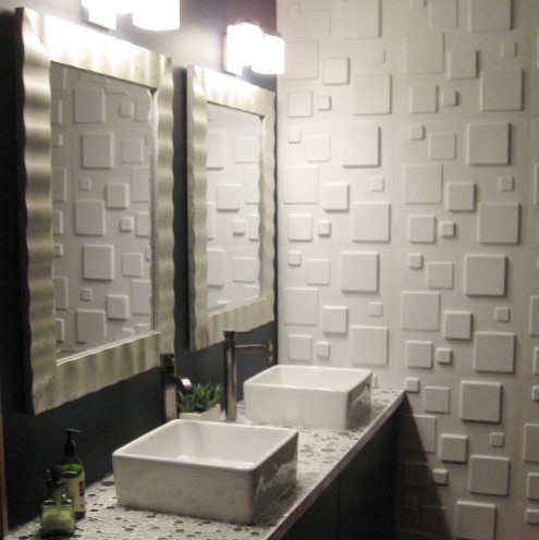 give your bathroom a luxurious look with wallart embossed wall panels bath products by 3d. Black Bedroom Furniture Sets. Home Design Ideas