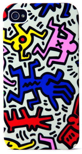 Keith Haring iPhone Case, Chaos eclectic-home-electronics