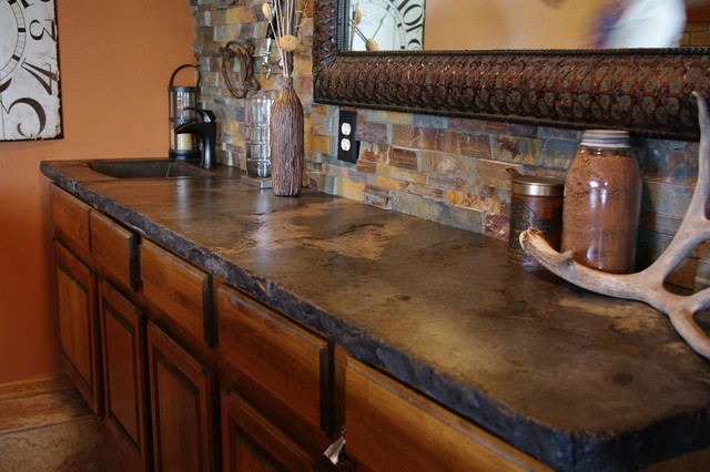 Rustic Outdoor Concrete Countertop Kitchen rustic