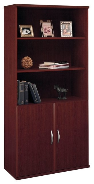 Bush Series C Double Bookcase with Doors - BHI415 contemporary-bookcases