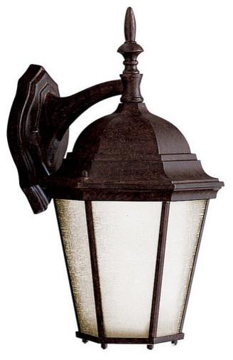 "Kichler 10954TZ Madison 1 Light 17"" Fluorescent Outdoor Wall Light traditional-outdoor-lighting"