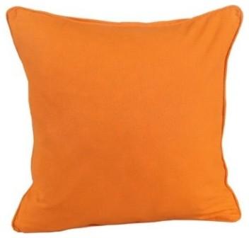 Plain Orange Filled Cushion modern-decorative-pillows