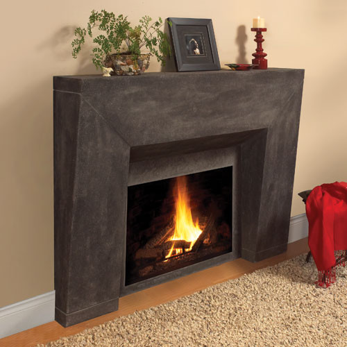 Milano Stone Fireplace Mantel - Contemporary - Indoor Fireplaces - Similiar Fireplace Surround Kits Indoor Keywords