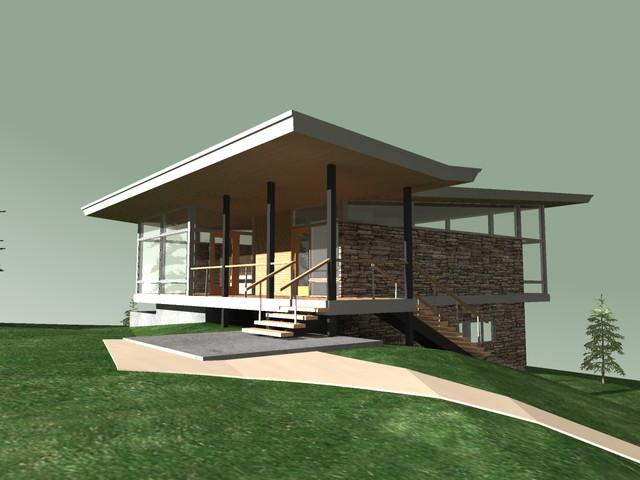 Hood River Residence modern-rendering