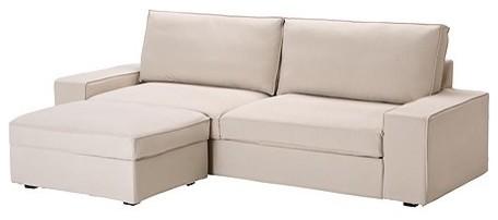 KIVIK Sofa bed with footstool modern-futons