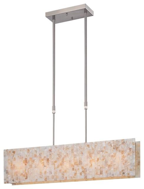 Contemporary Lite Source Schale Rectangular Pendant Chandelier contemporary-chandeliers