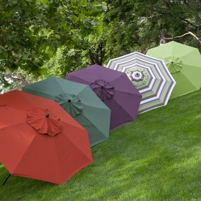 Coral Coast 9-ft. Deluxe Collar Tilt Wind Resistant Patio Umbrella modern-outdoor-umbrellas