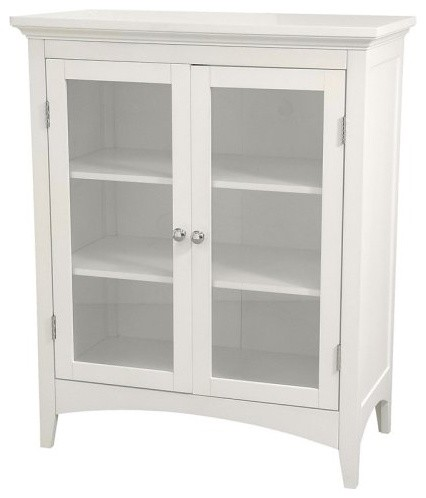Madison Avenue Double Floor Cabinet Traditional Bathroom Cabinets And She