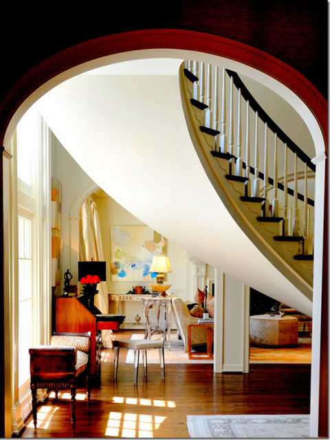 West University Home of Laurie Pearson eclectic-staircase