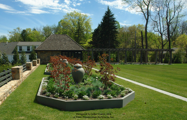 New Garden Shed and Pergula - Pennsylvania traditional-landscape