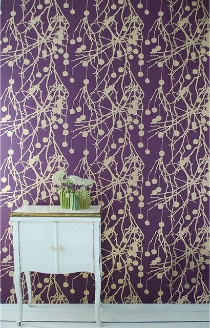 Ferm Living Wallpaper Ferm Living Treebomb Wallpaper Purple Modern