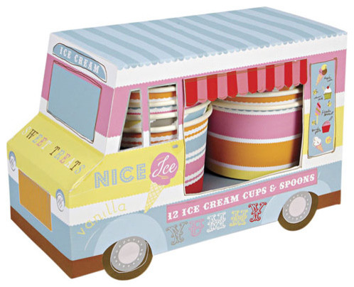 Ice Cream Van Ice Cream Cups contemporary-everyday-glasses