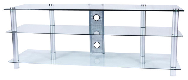 Aluminum Coffee Table And TV Stand Set Contemporary Coffee Table Sets