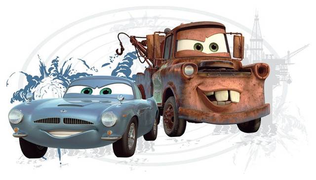 Disney Cars 2 Mater Finn Mcmissile Self Stick Wall Accent