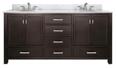 Avanity Modero 72 in. W x 21 in. D x 34 in. H Bathroom Vanity Cabinet Only in Es contemporary-bathroom-vanities-and-sink-consoles