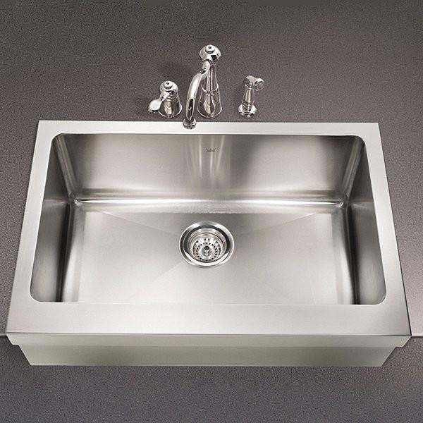 farmhouse single basin kitchen stainless steel sink