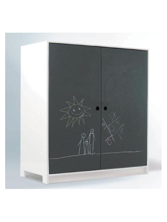 Parker Armoire, Chalkboard/White -
